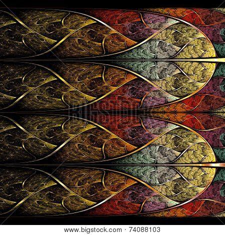 Symmetrical Colorful Fractal Flower, Digital Logarithm