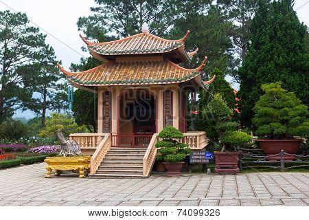 Pagoda In Monastery. Dalat. Vietnam.
