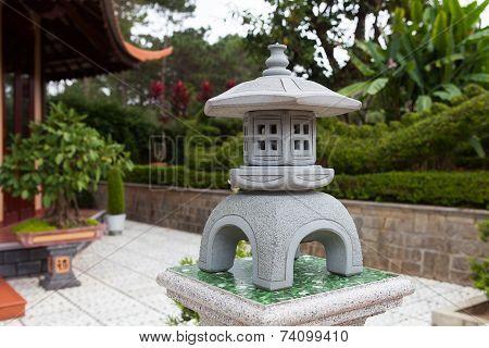 Satue Of Pagoda In Dalat. Vietnam.