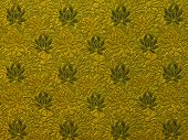flower pattern texture on the brown cloth poster