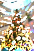 The Abstract circular bokeh background of Christmaslight poster