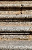pattern of granite stairs in front view poster
