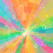 Abstract multicolor circle tunnel background. vector illustration poster