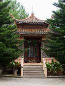 Pagoda in Thien Vien Truc Lam Monastery. Dalat. Vietnam. poster