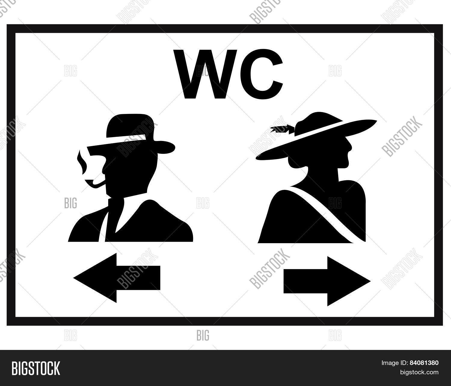 Toilet sign men woman wc vector photo bigstock toilet sign men woman wc vector illustration biocorpaavc Choice Image