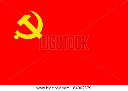 Chinese Communist Party Official Flag