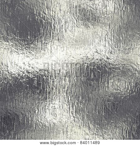 Metal Foil Tileable background shiny and glossy texture. poster