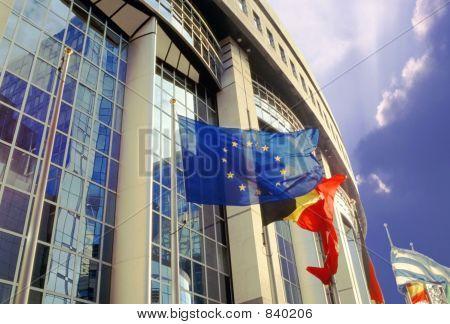 eu parliament building brussels belgium europe