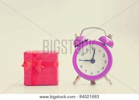 Retro Alarm Clock And Gift