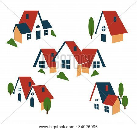 Real Estate or house icons