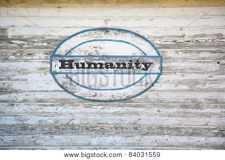 Humanity road sign
