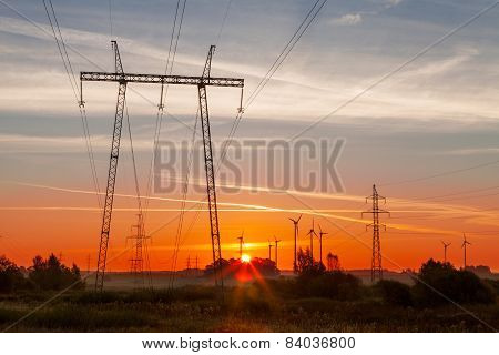Green Energy Sunrise