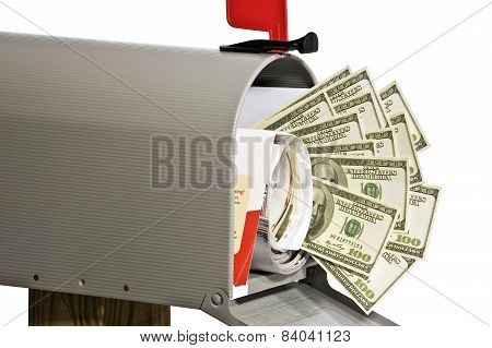 Money In The Mailbox With Mail