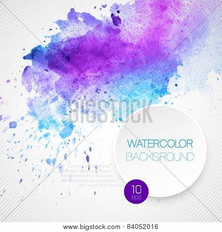 Watercolor background. Vector illustration