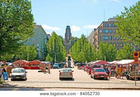 Lahti. Finland. Market Square