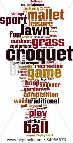 Croquet Word Cloud