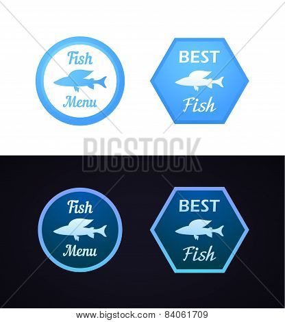 Grayling Fish On Label