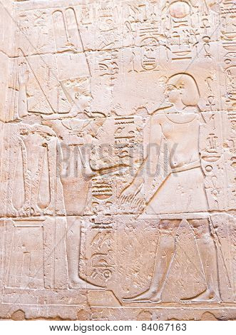The erotic picture on the wall of the Luxor Temple Luxor Egypt. poster