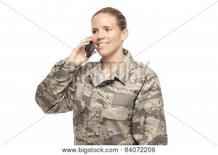 Airman Talking On Phone