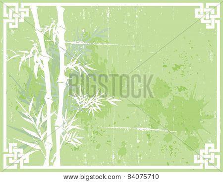 Vintage grunge Chinese bamboo background