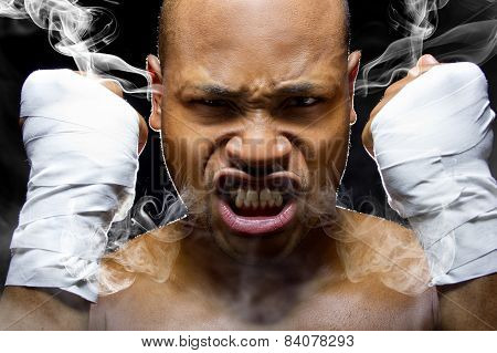 Fighter Smoking Rage