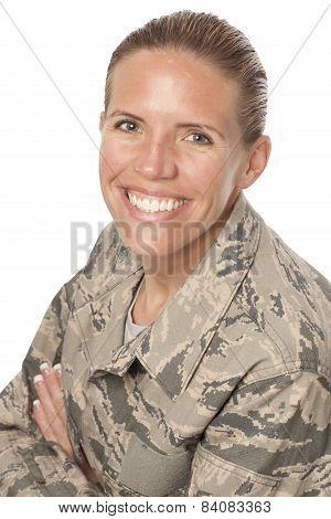 Happy Female Airman