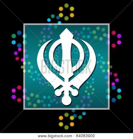 Sikhism Black Colorful Elements