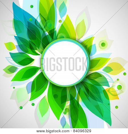 Summer Decorative Background With Circle Sticker