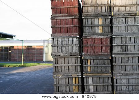 Old Wooden Fruit Crates