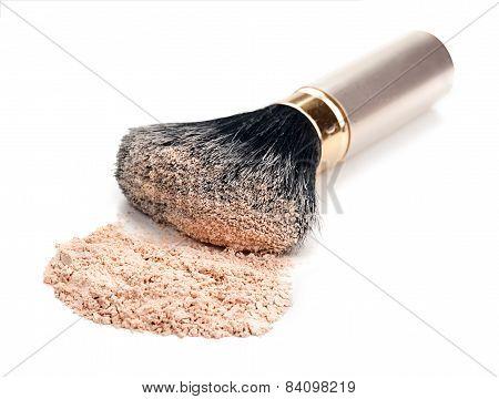 Brush And Powder Isolated