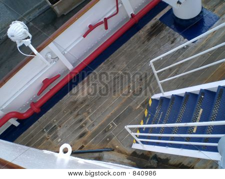 Detail Of Ship'S Ladder And Deck