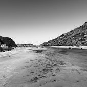 Deep Creek Conservation Park on the Fleurieu Peninsula in South Australia in black and white poster