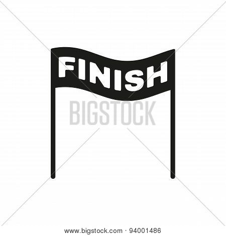 The Finish Icon. Finish Symbol. Flat