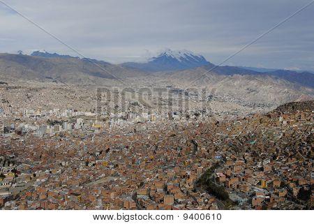 La Paz And Mt. Illimani