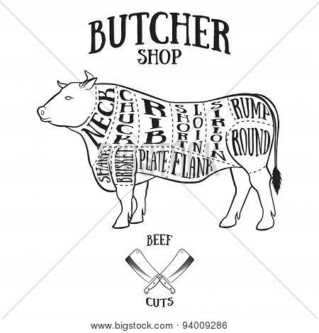Butcher Cuts Scheme Vector Photo Free Trial