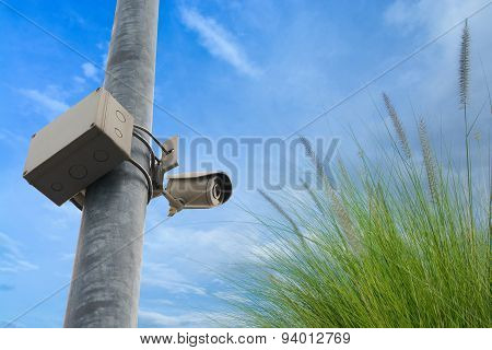 Closed Circuit Television (cctv) Equipment For Protect Thief Ste