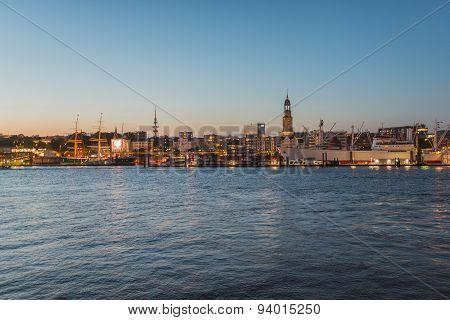 Night Skyline of Hamburg