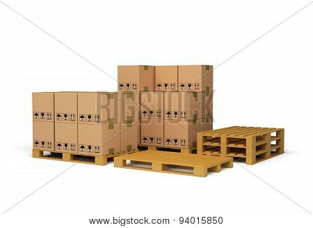 The Boxes On The Pallet