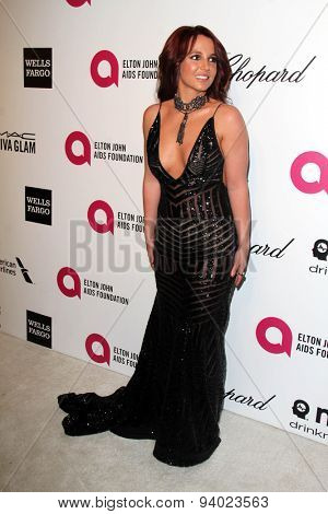 LOS ANGELES - MAR 3:  Britney Spears at the Elton John AIDS Foundation's Oscar Viewing Party at the West Hollywood Park on March 3, 2014 in West Hollywood, CA