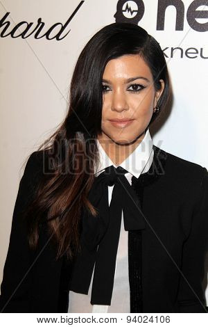 LOS ANGELES - MAR 3:  Kourtney Kardashian at the Elton John AIDS Foundation's Oscar Viewing Party at the West Hollywood Park on March 3, 2014 in West Hollywood, CA