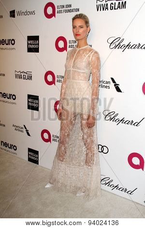 LOS ANGELES - MAR 3:  Karolina Kurkova at the Elton John AIDS Foundation's Oscar Viewing Party at the West Hollywood Park on March 3, 2014 in West Hollywood, CA
