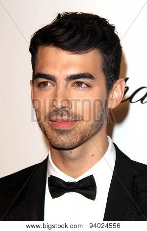 LOS ANGELES - MAR 3:  Joe Jonas at the Elton John AIDS Foundation's Oscar Viewing Party at the West Hollywood Park on March 3, 2014 in West Hollywood, CA
