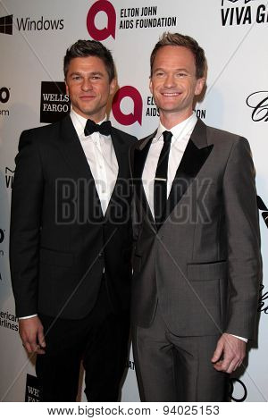 LOS ANGELES - MAR 3:  Neil Patrick Harris at the Elton John AIDS Foundation's Oscar Viewing Party at the West Hollywood Park on March 3, 2014 in West Hollywood, CA