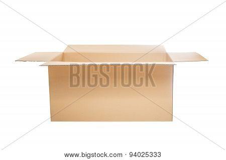 Opened cardboard box.