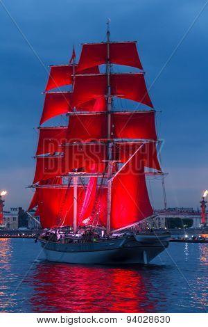 Scarlet Sails Celebration In St Petersburg.