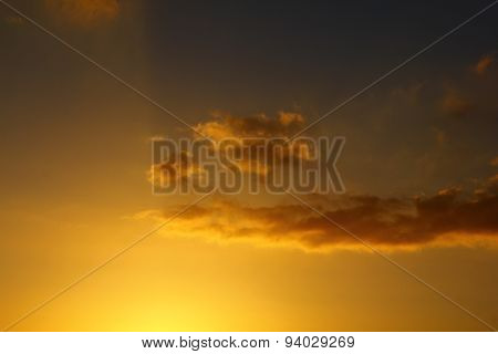 The clouds in the sunset
