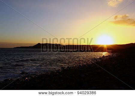 Sunset on the Canary Islands
