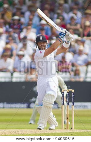 NOTTINGHAM, ENGLAND - July 12, 2013: England's Matt Prior batting during day three of the first Investec Ashes Test match at Trent Bridge Cricket Ground on July 12, 2013 in Nottingham, England.