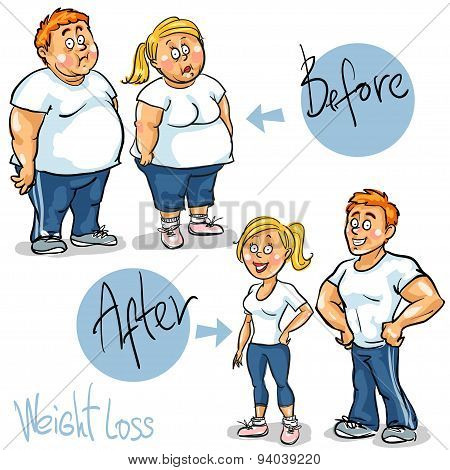 Man and Woman achieving their Weight-Loss goal.