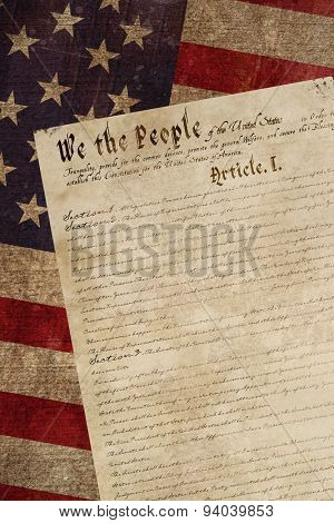 declaration of independence against weathered surface